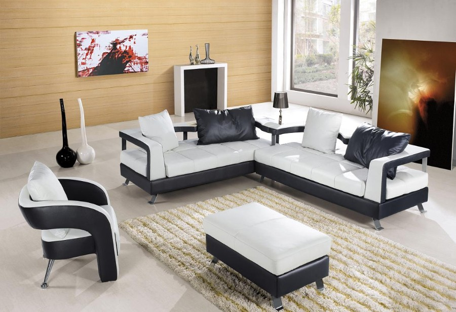 Elegant VIEW IN GALLERY Fantastic Design Of The Living Room Areas With White Modern  Sofa Sets With White Rugs Ideas