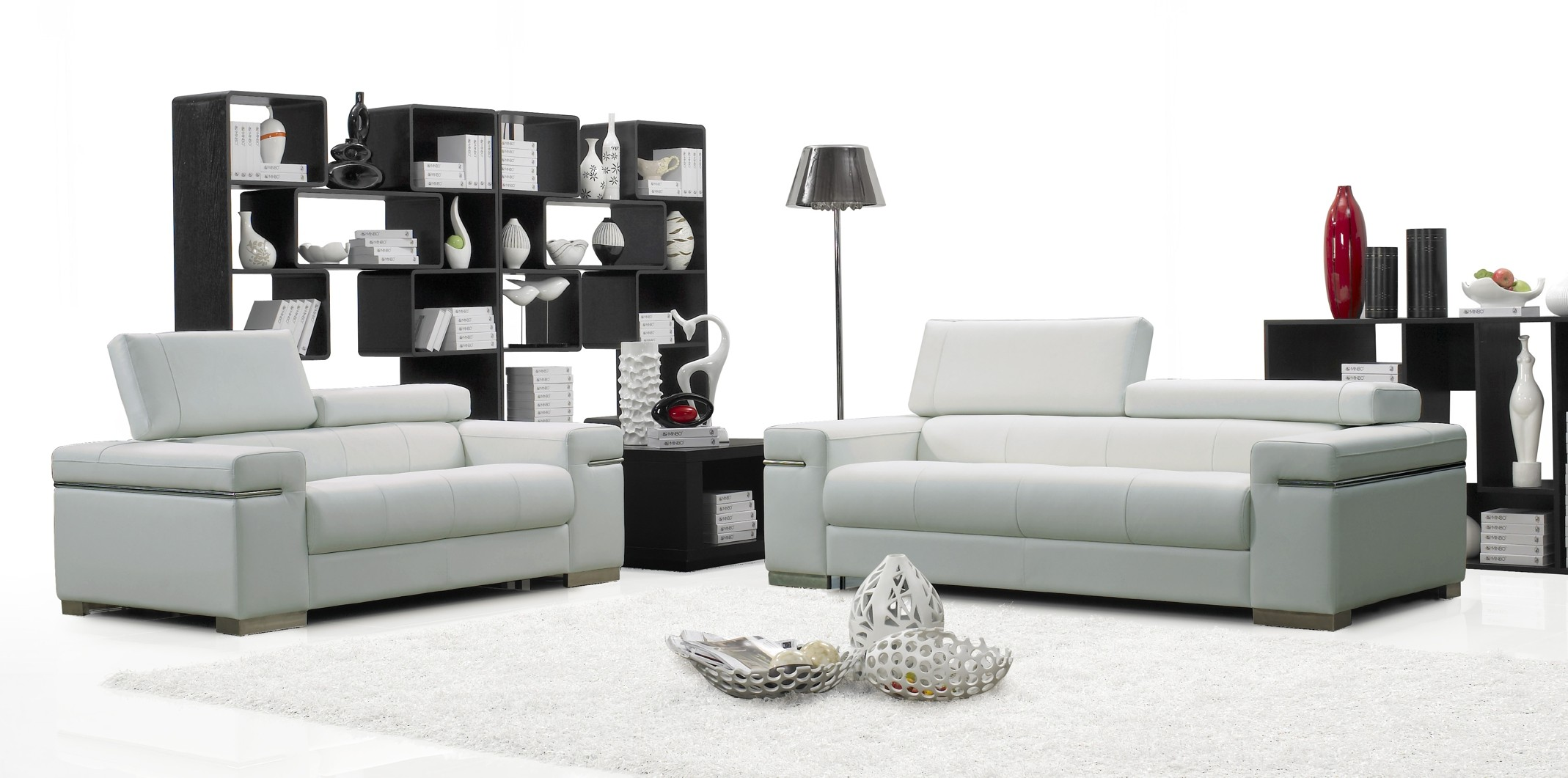 Modern sofa sets white modern sofa set vg 74 leather sofas for Contemporary living room furniture sets