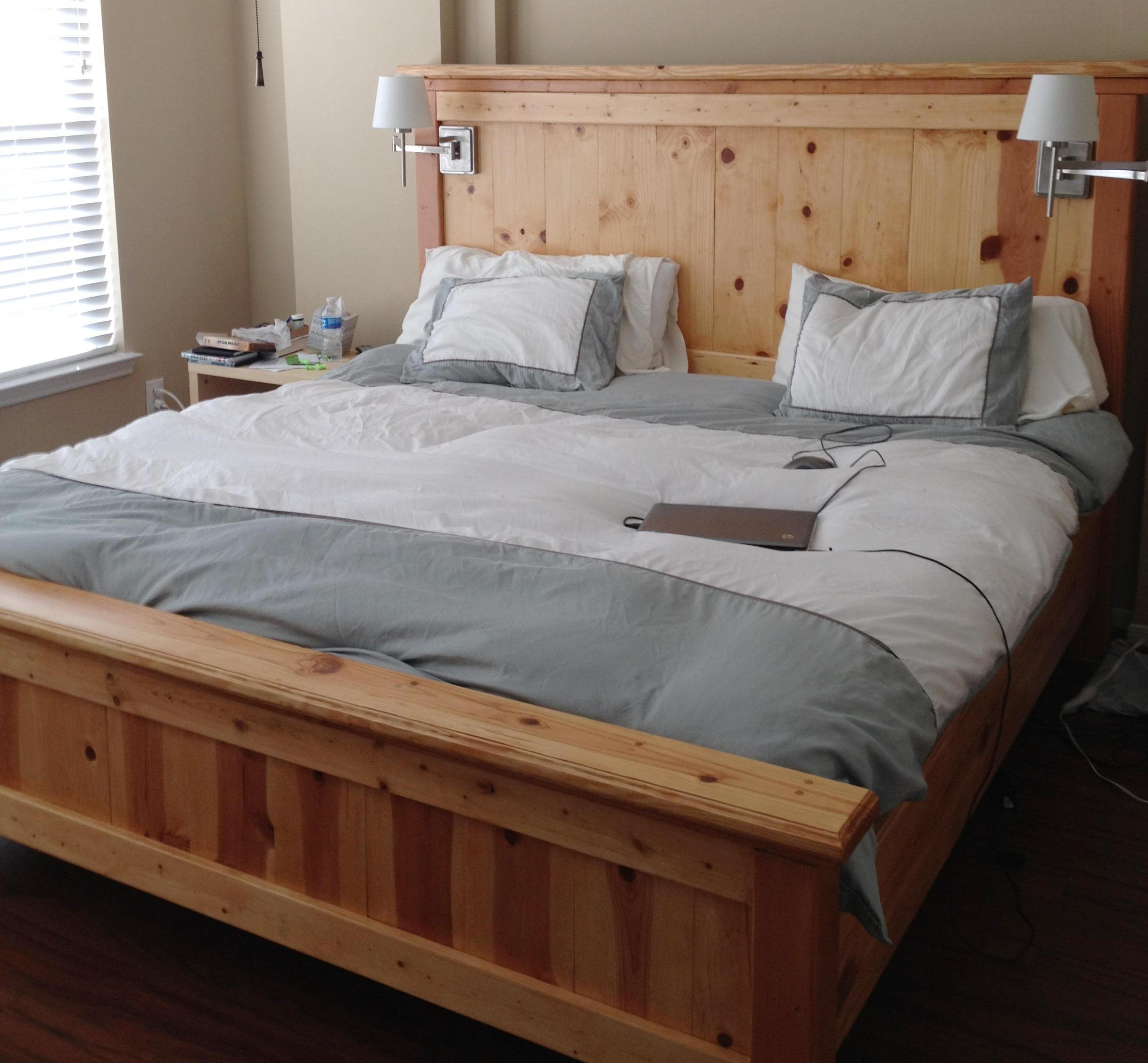 wood bed frame king. Full Size Headboard And Footboard Set Designs Wood Bed Frame King