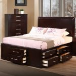 King Size Platform Bed Frame With Storage Drawers Underneath