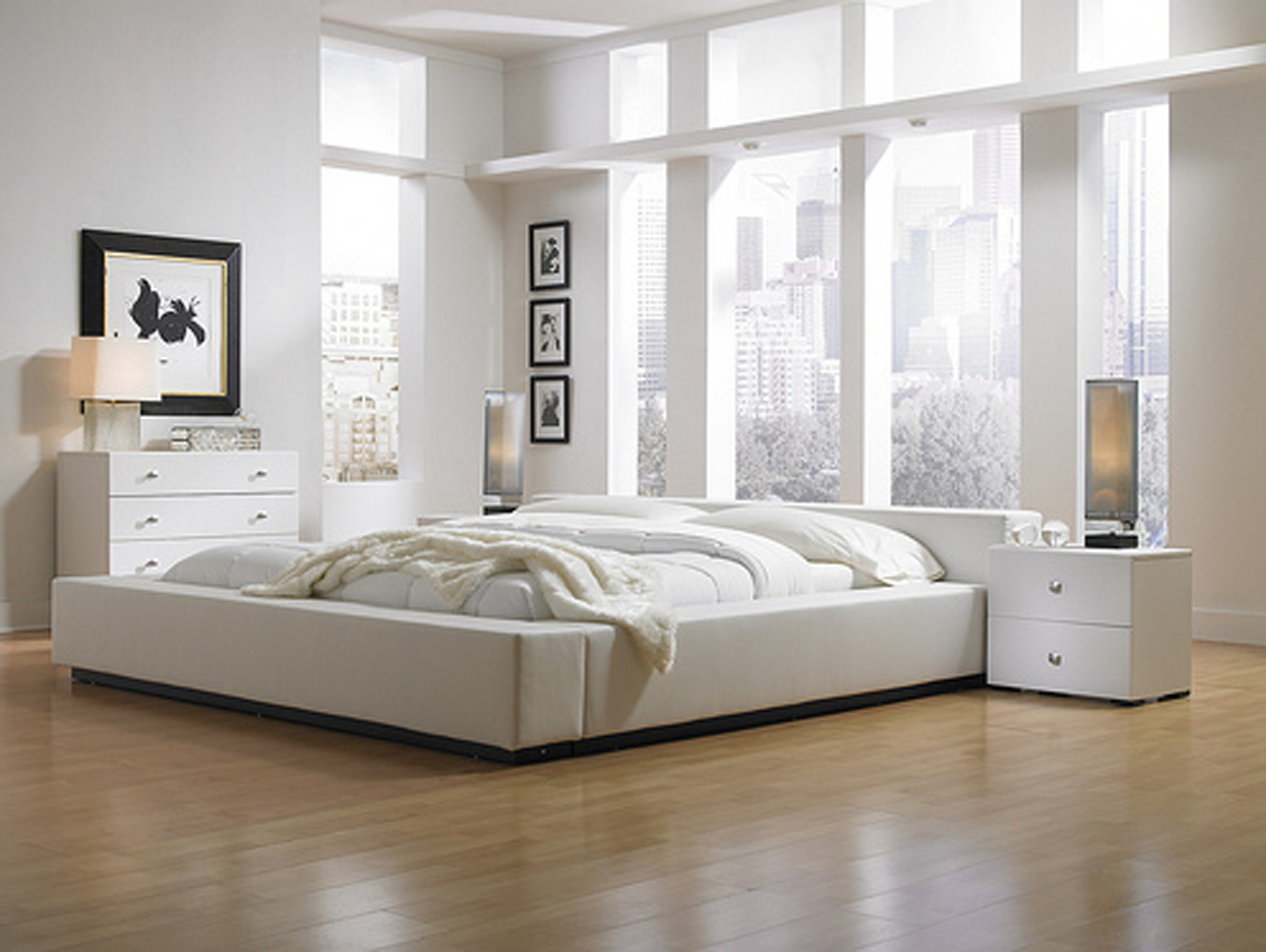 Bedroom Furniture Decor. View In Gallery Modern White Master Bedroom  Furniture Ideas For Interior Decoration