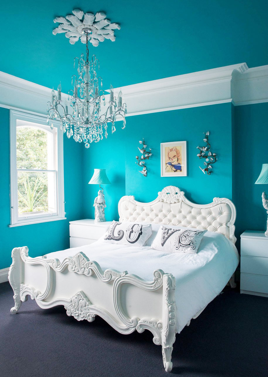 Nice white bedroom furniture ideas to match turquoise bedroom