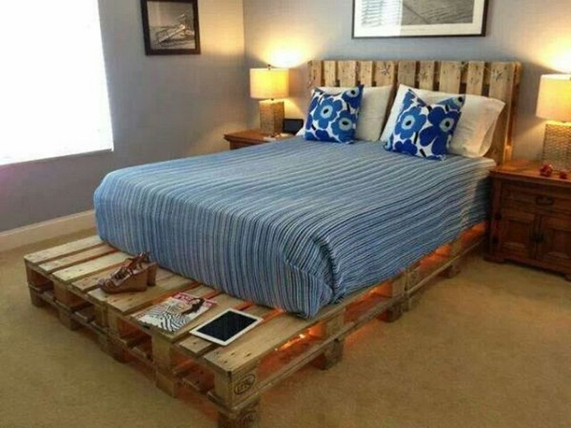 Pallet Single Bed Ideas With Headboard
