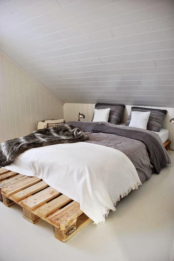 The best 28 pallet bed frame designs ever built hgnv com Awesome bed frames