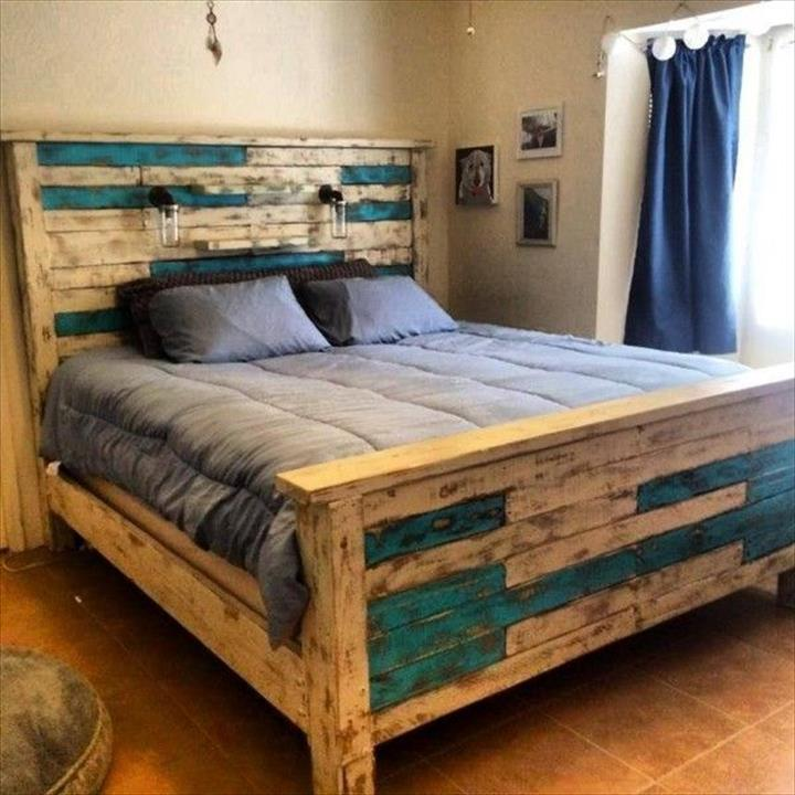 The Best 28 Pallet Bed Frame Designs Ever Built   HGNV.COM (DIY Pallet  Furniture)