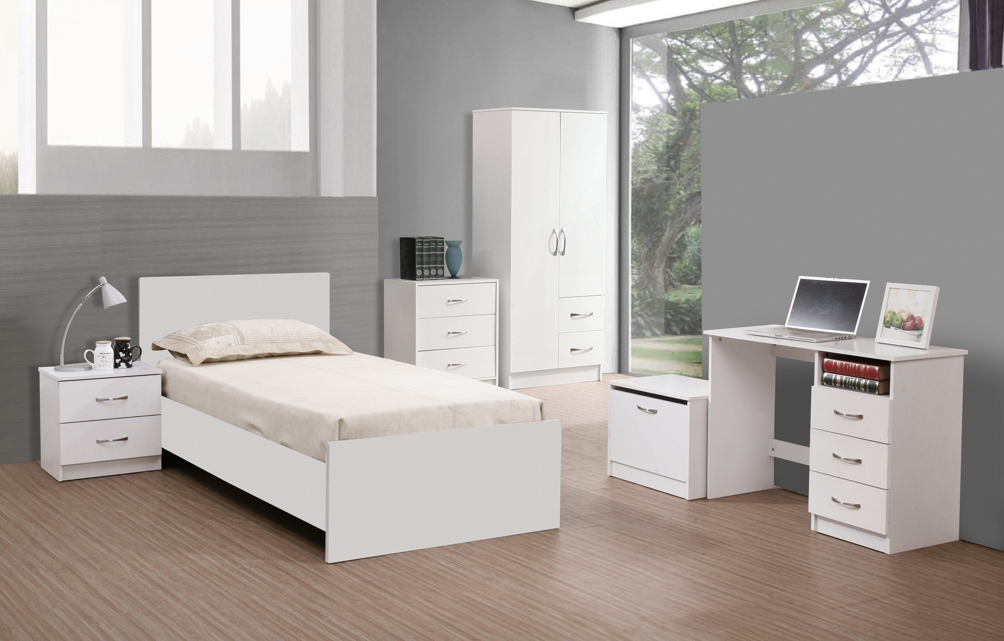 15 top white bedroom furniture might be suitable for your for Minimalist single bedroom