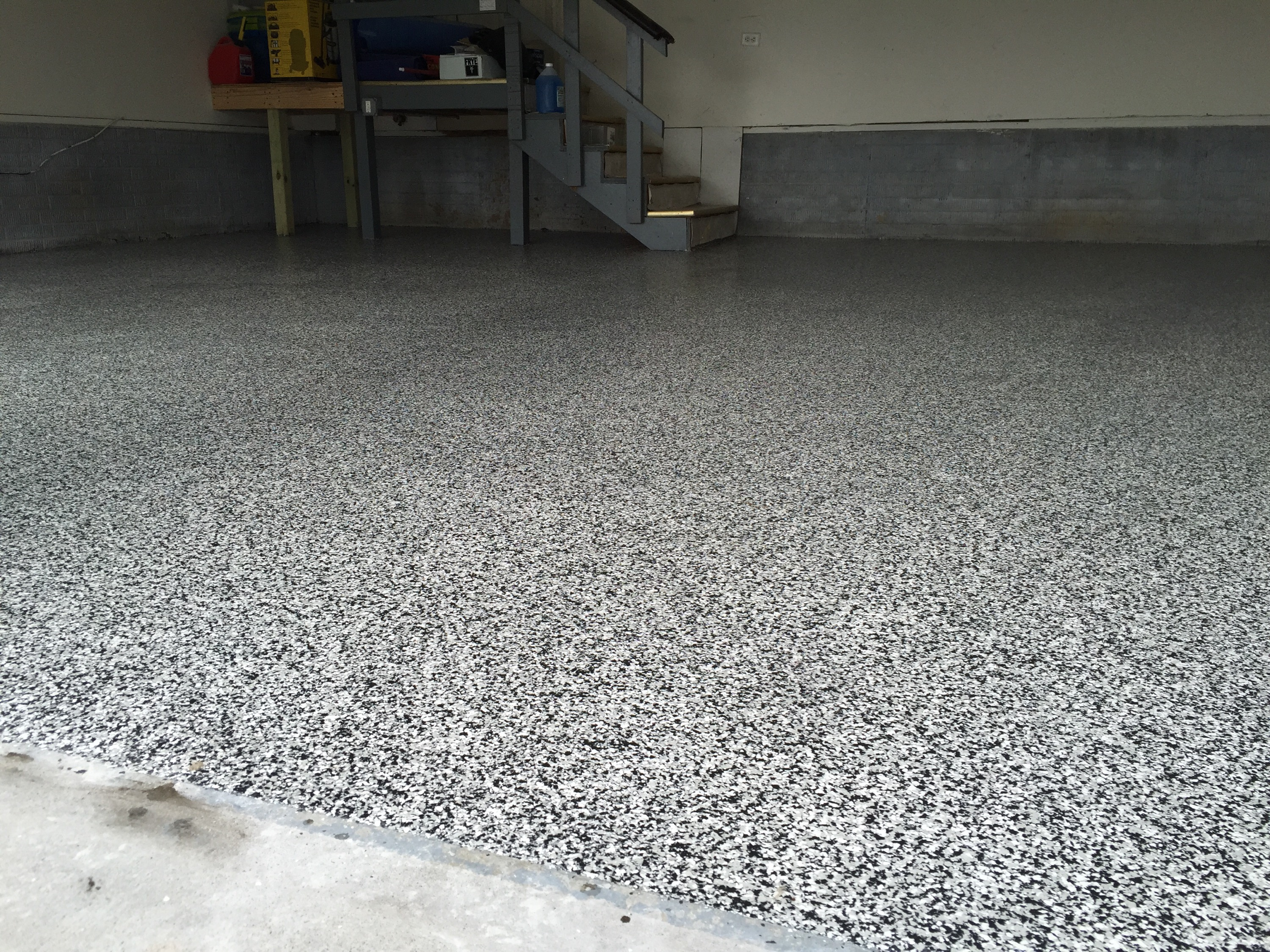 The good things about epoxy garage floor coatings hgnv com for Epoxy flooring