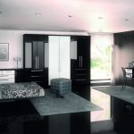 Black and white high gloss bedroom furniture sets