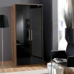 Black high gloss bedroom furniture ready assembled