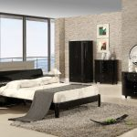 Black high gloss range contemporary bedroom furniture