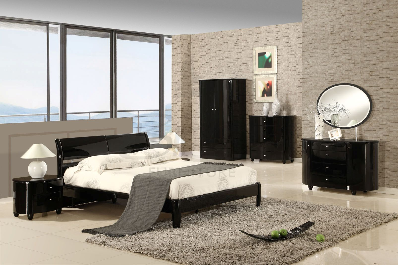 Funky High Gloss Bedroom Furniture Design