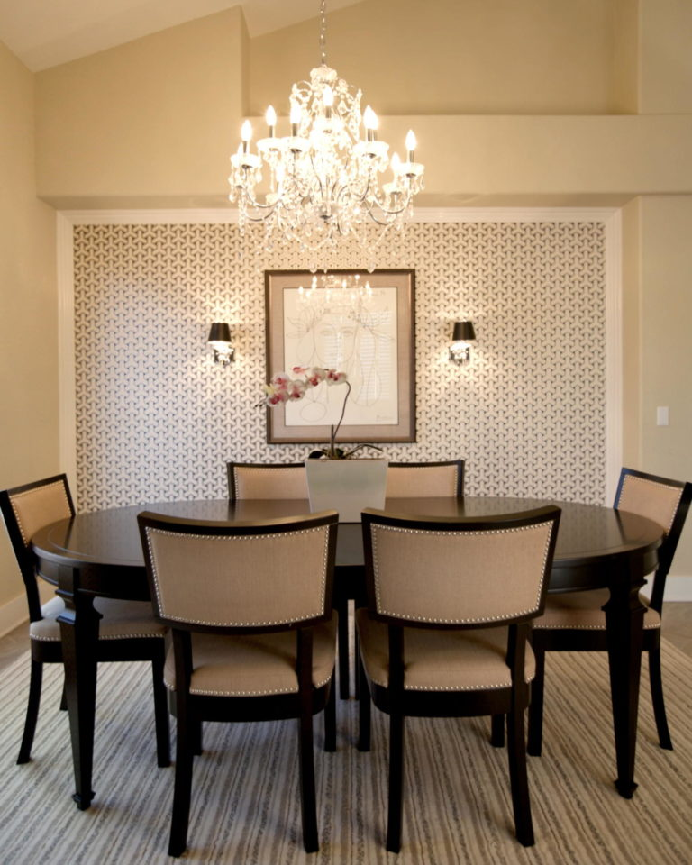 VIEW IN GALLERY Contemporary Crystal Dining Room Chandeliers Idea For Modern  Dining Room Space