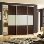 Cool built in sliding fitted wardrobes white & grey doors with storage for bedroom