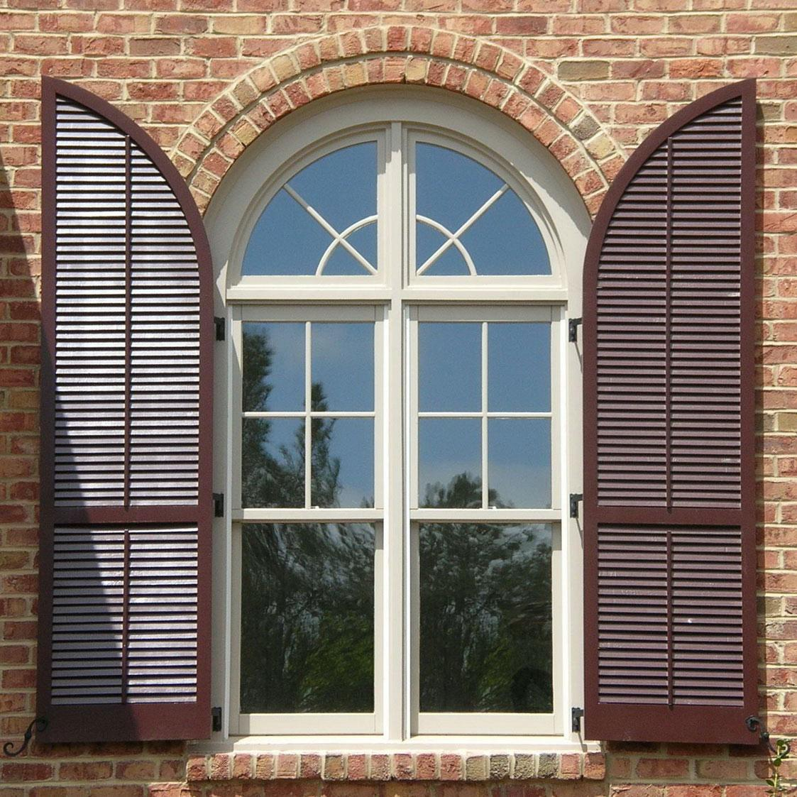 Vinyl Arched Window : Stylish window shutters for treatment ideas