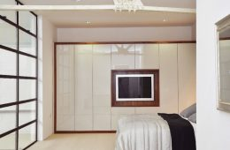 Cream high gloss bedroom furniture free standing wardrobes