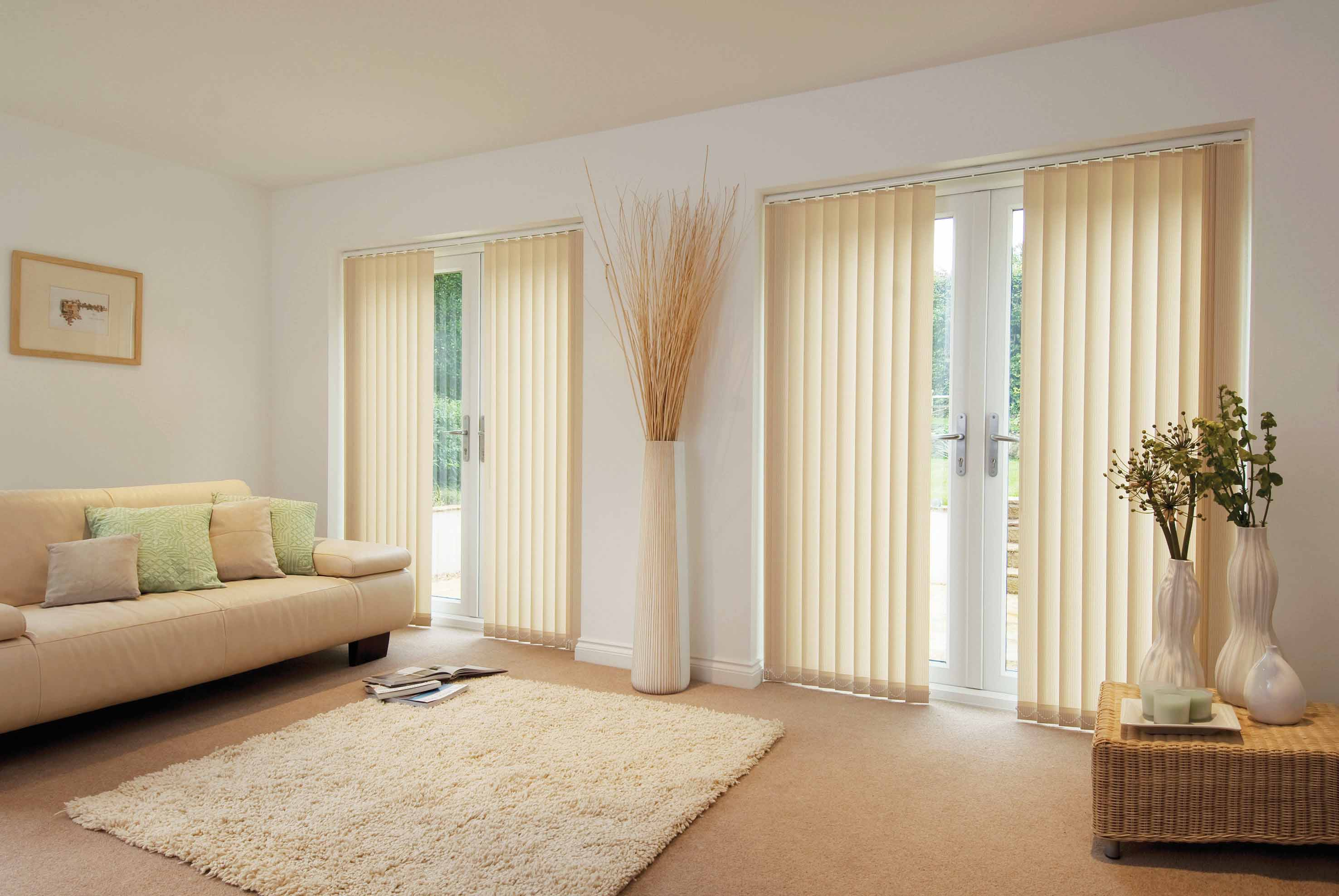 Vertical blinds for sliding glass doors window treatment ideas hgnv view in gallery curtain rods for sliding glass doors with vertical blinds eventelaan Gallery