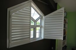 Custom interior window shutters