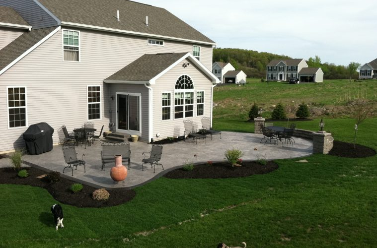 Stamped concrete patio floor design pattern with 10 for Patio inspiration ideas