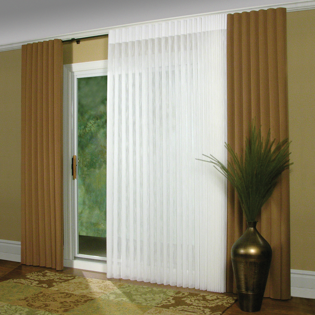 Vertical blinds for sliding glass doors window treatment for Best insulated glass windows