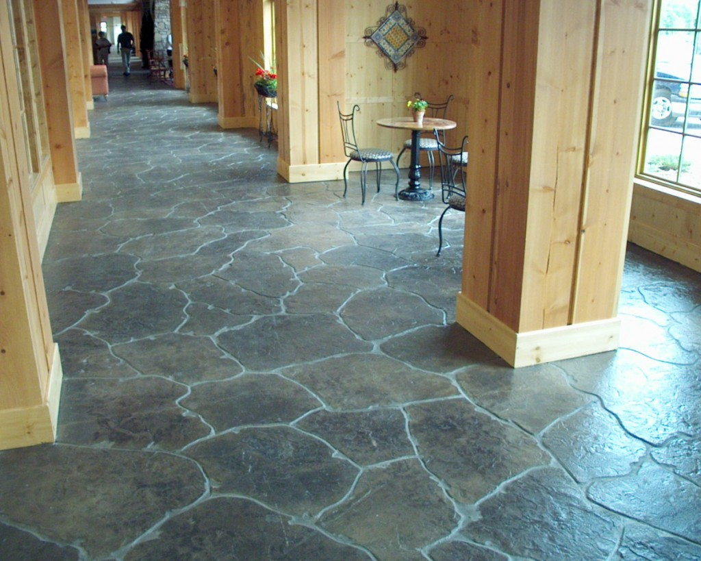 Stamped concrete patio floor design pattern with 10 for Indoor cement flooring