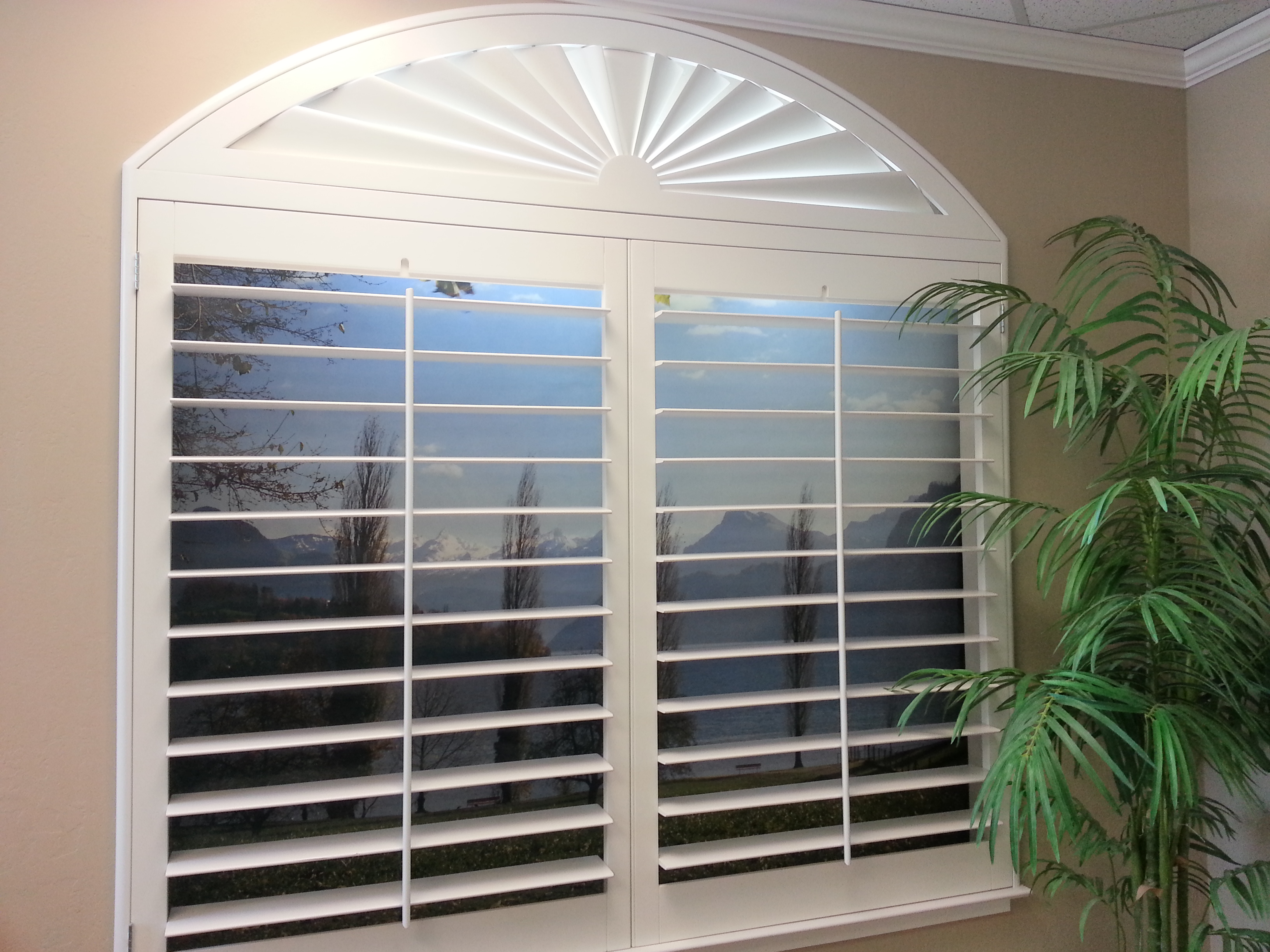 Wooden Window Shutters : Stylish window shutters for treatment ideas