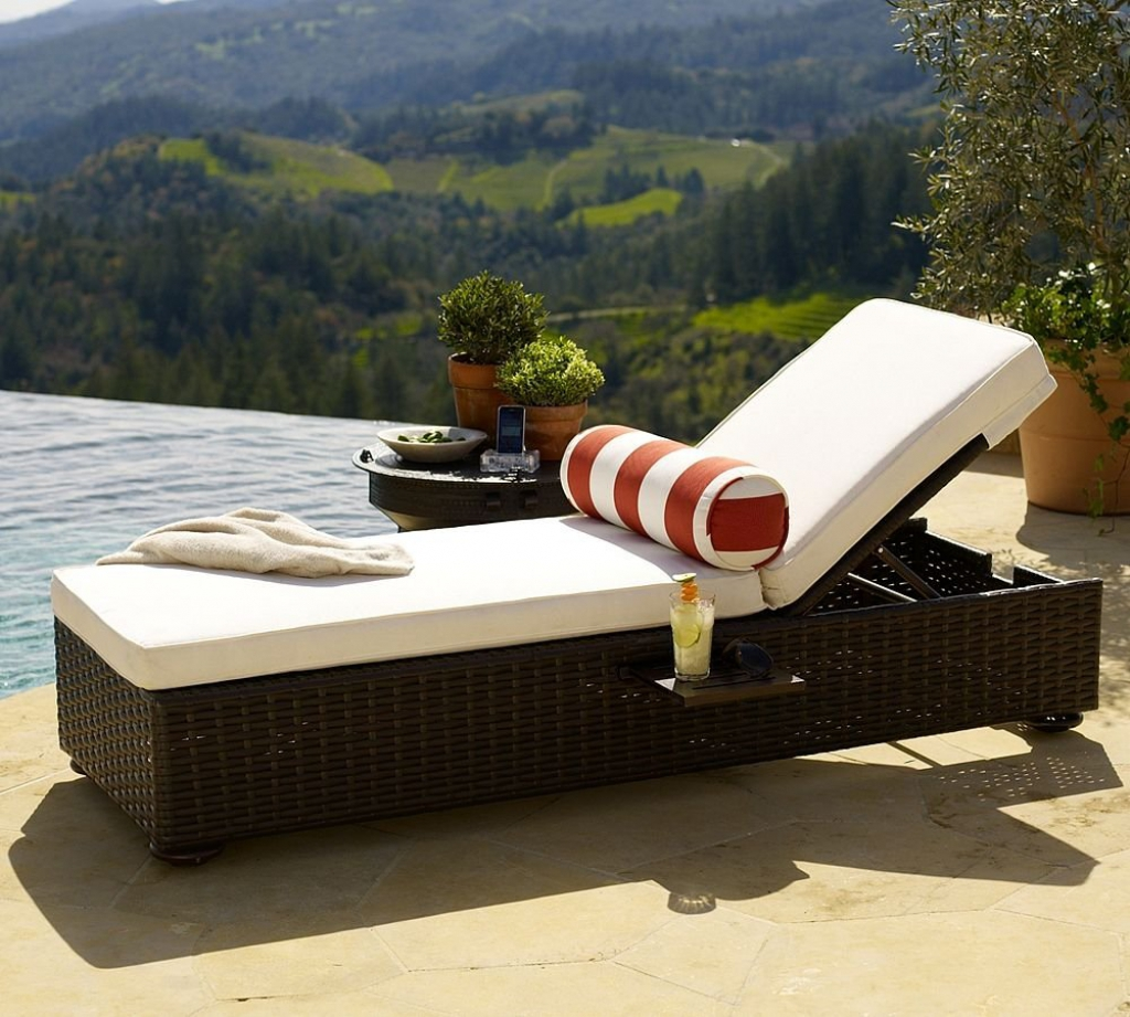 VIEW IN GALLERY Outdoor Chaise Lounge Patio Chaise Outdoor Lounge Chairs  Outdoor