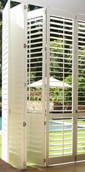 VIEW IN GALLERY Mesmerizing White Wooden Window Shutters Interior