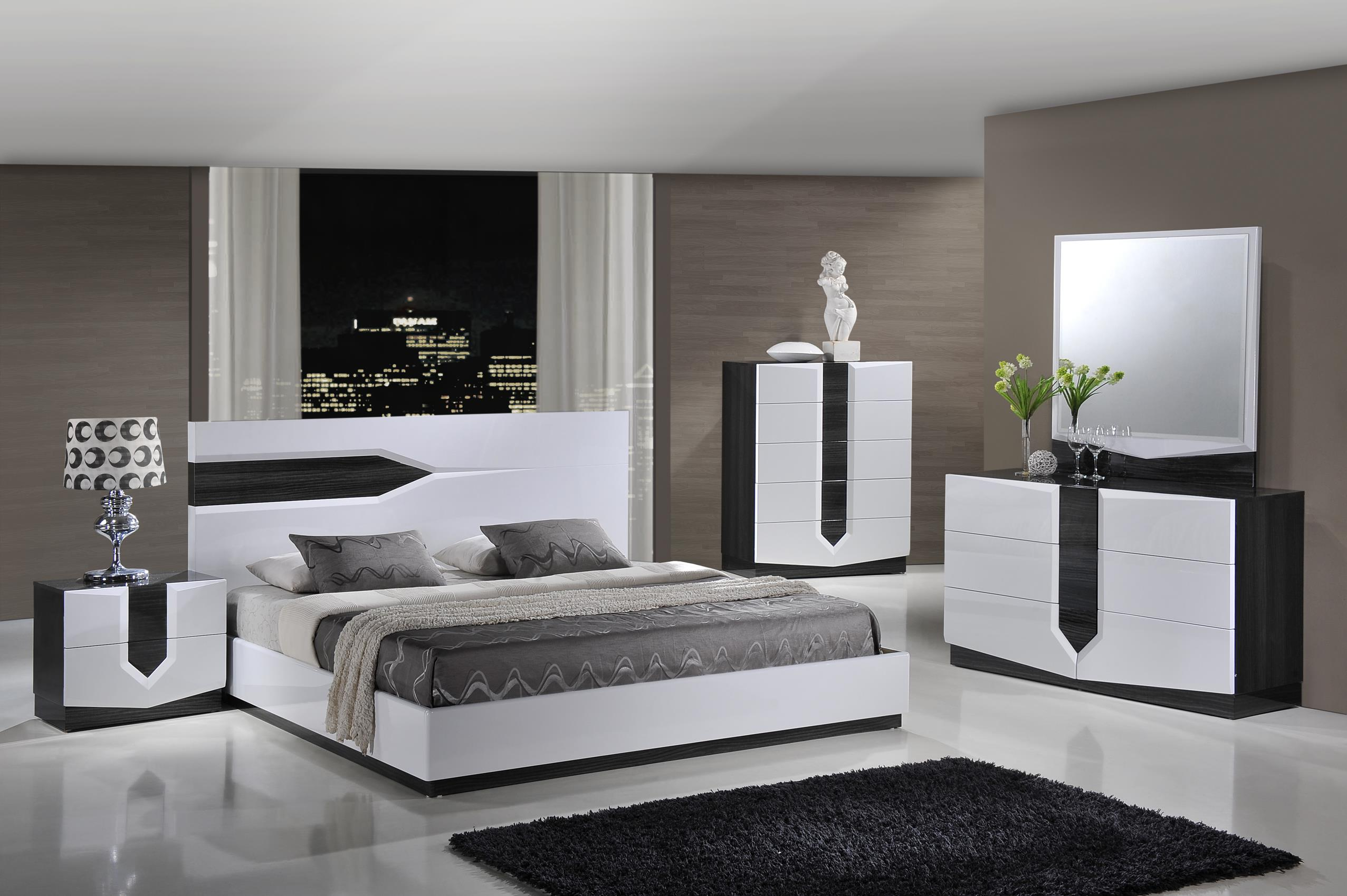 black or white furniture. view in gallery minimalist white high gloss bedroom furniture ideas bed with cabinets black or d
