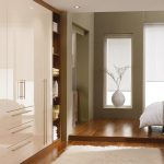 Modern contemporary bedroom furniture cosmopolitan white high gloss wardrobes
