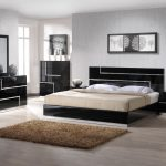 Modern high gloss black king size bed bedroom furniture sets