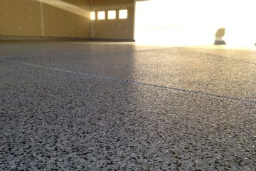 Professionally installed epoxy garage floor coating