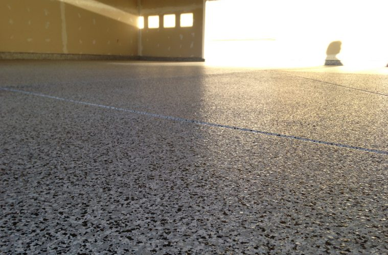 installed epoxy garage floor coating