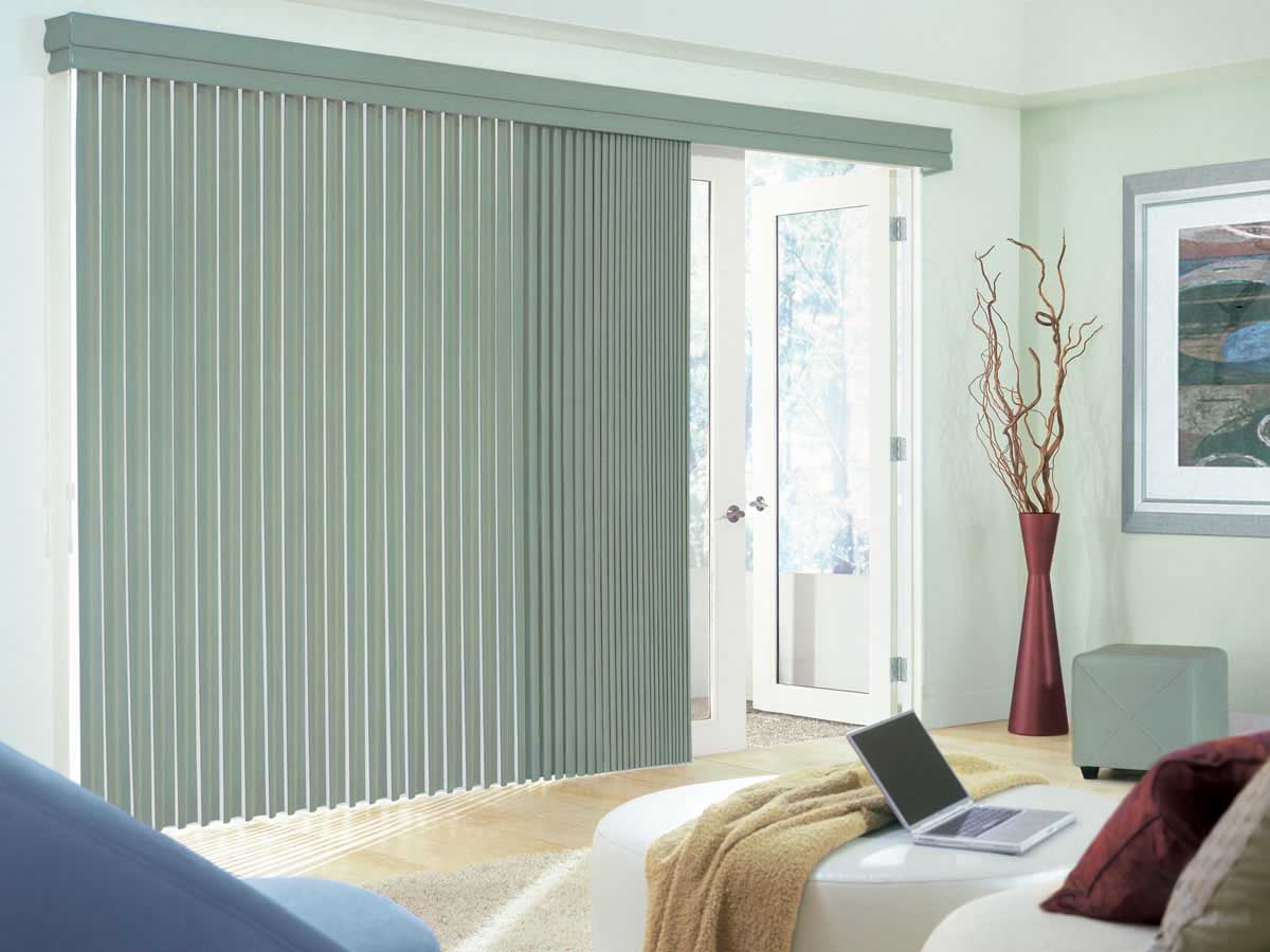 Modern window treatments for sliding doors - View In Gallery Replacement Vertical Blinds Modern Window Treatments