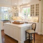 Simple white kitchen island ideas with seating