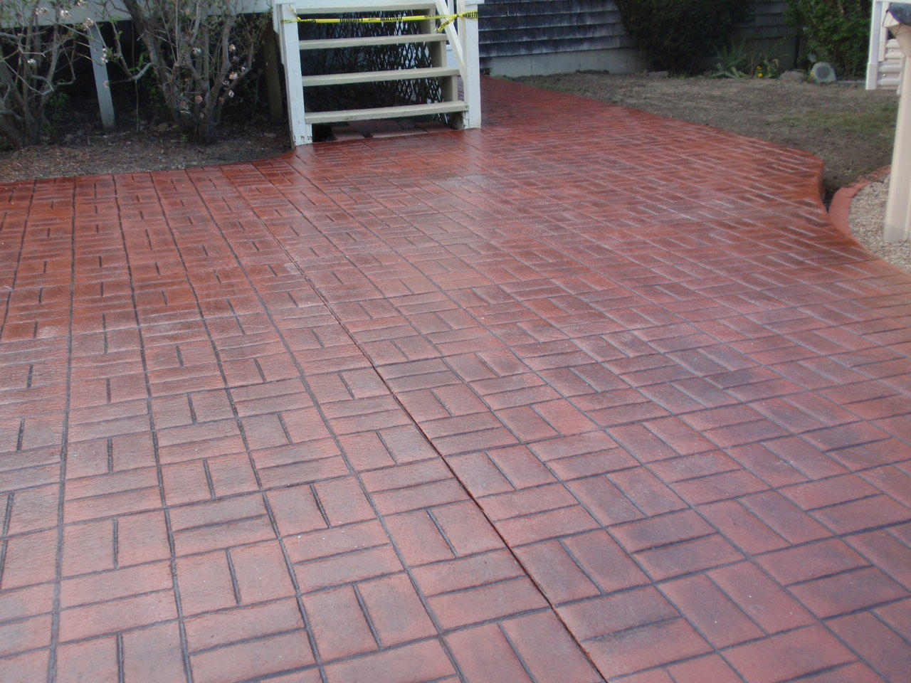 Stamped Concrete Patio : Stamped concrete patio floor design pattern with
