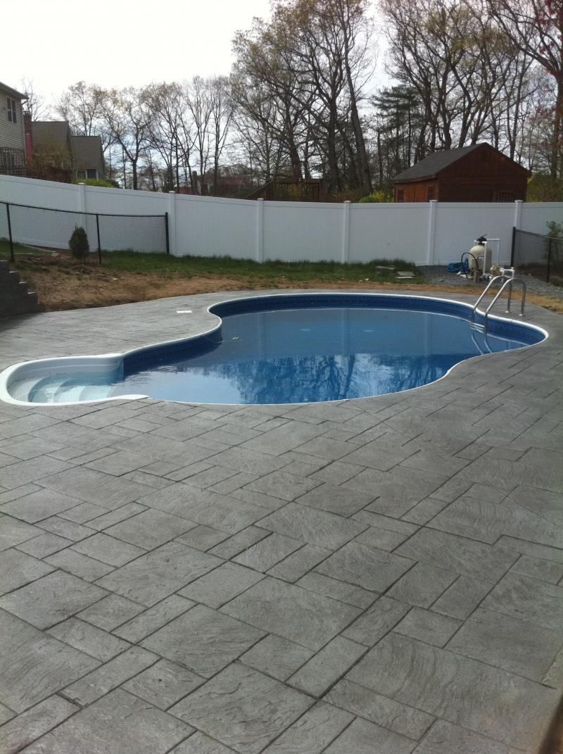 Stamped concrete pool deck best pattern