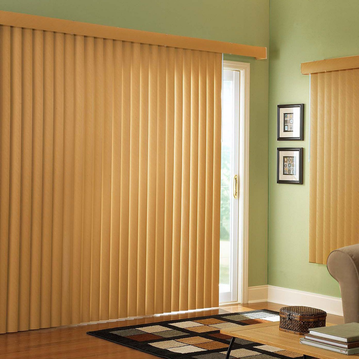 vertical blinds for sliding glass doors window treatment. Black Bedroom Furniture Sets. Home Design Ideas
