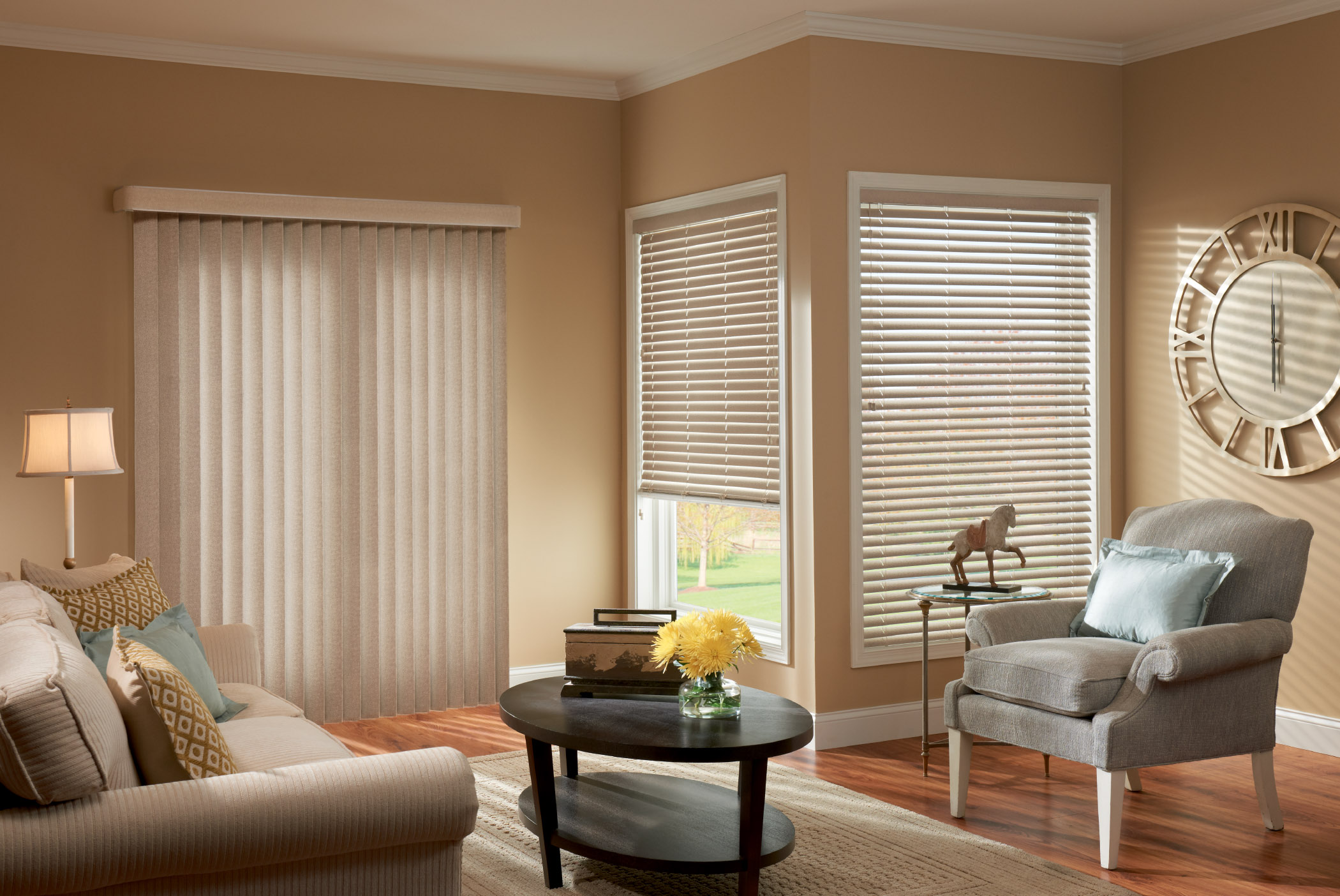 Vertical blinds for sliding glass doors window treatment for Window blinds with designs