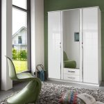 white high gloss wardrobes with drawers