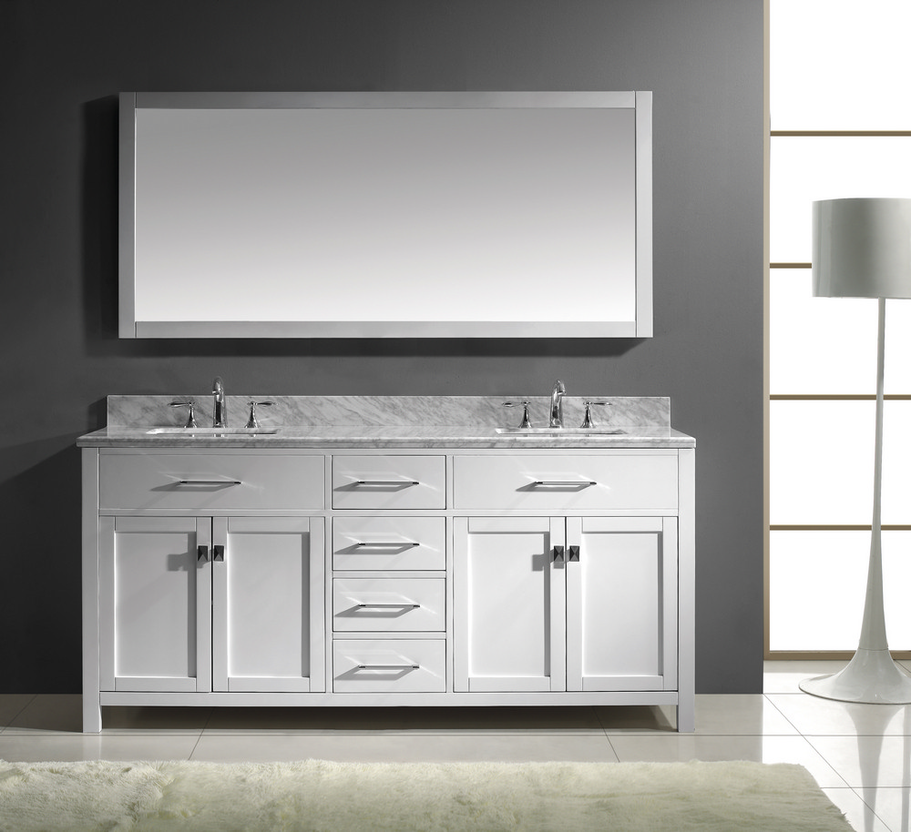 Perfect white bathroom vanity and storage cabinet ideas for Bathroom 72 inch vanity