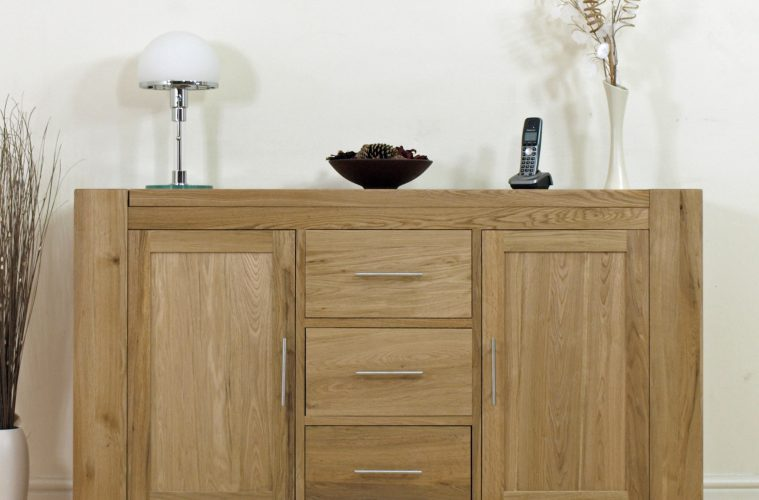 Solid Oak Sideboard is Your First Choice Living Room Furniture - HGNV