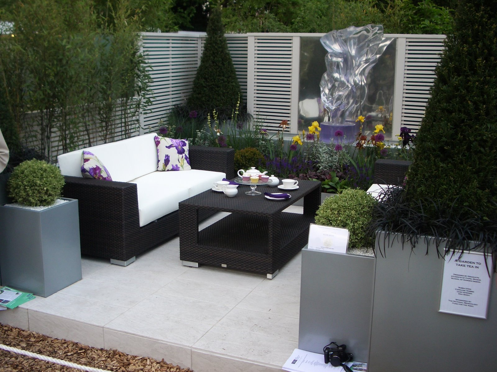 view in gallery modern black wicker outdoor furniture for outdoor patio with white cushion and cool table