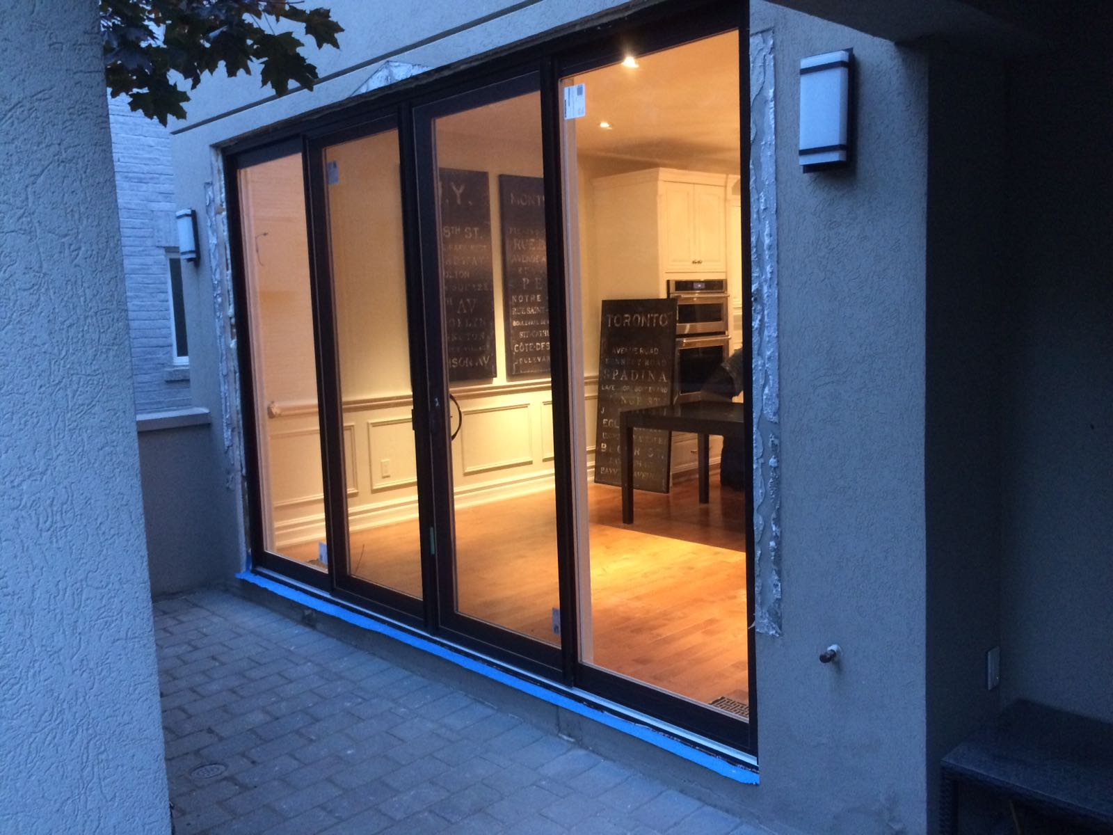 modern exterior oversized sliding patio door by modern doors - Exterior Patio Doors