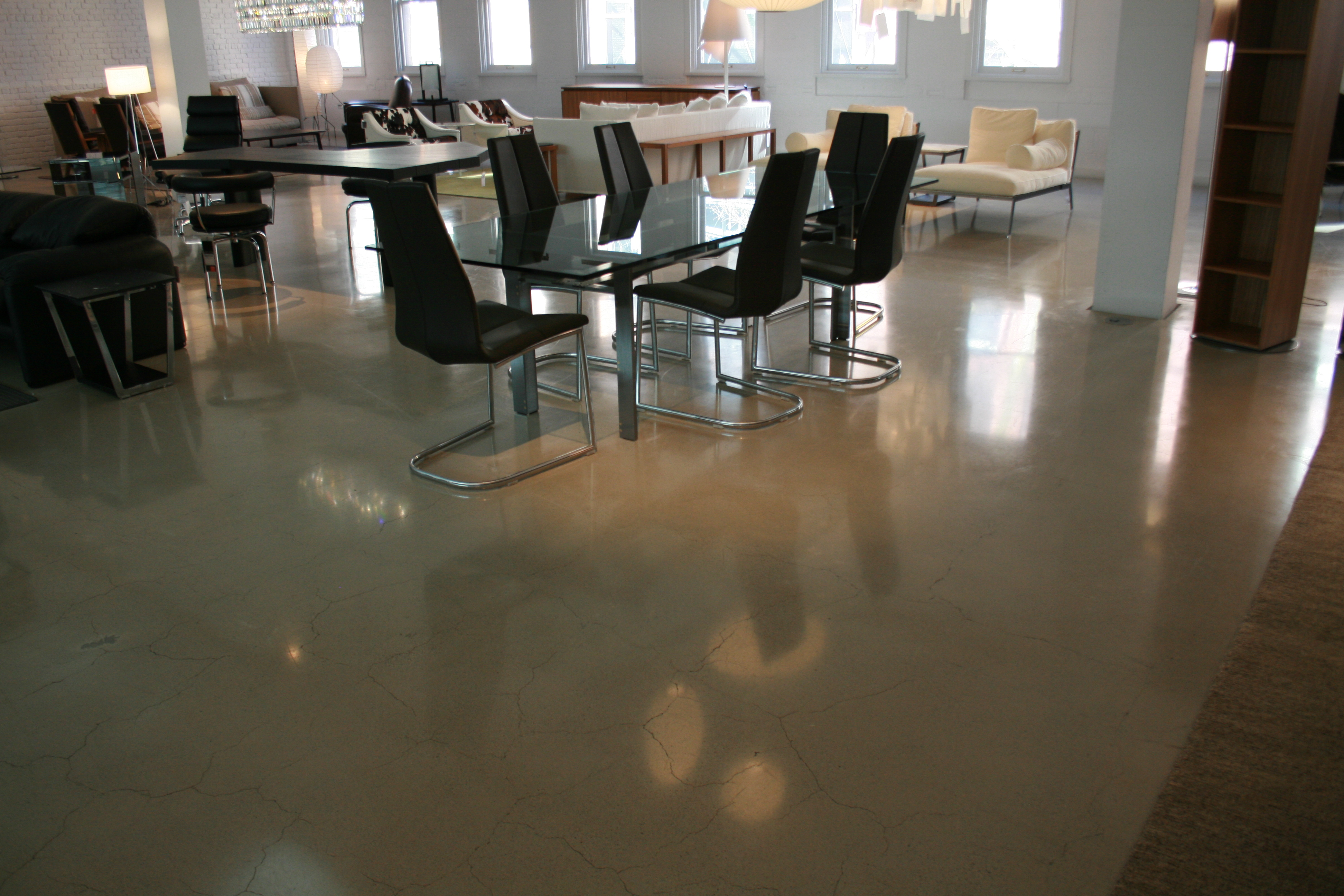 view in gallery polished concrete floors reside white polished concrete ntial small home floor plans