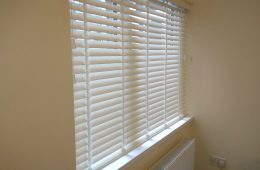 Faux wood great bay window treatments