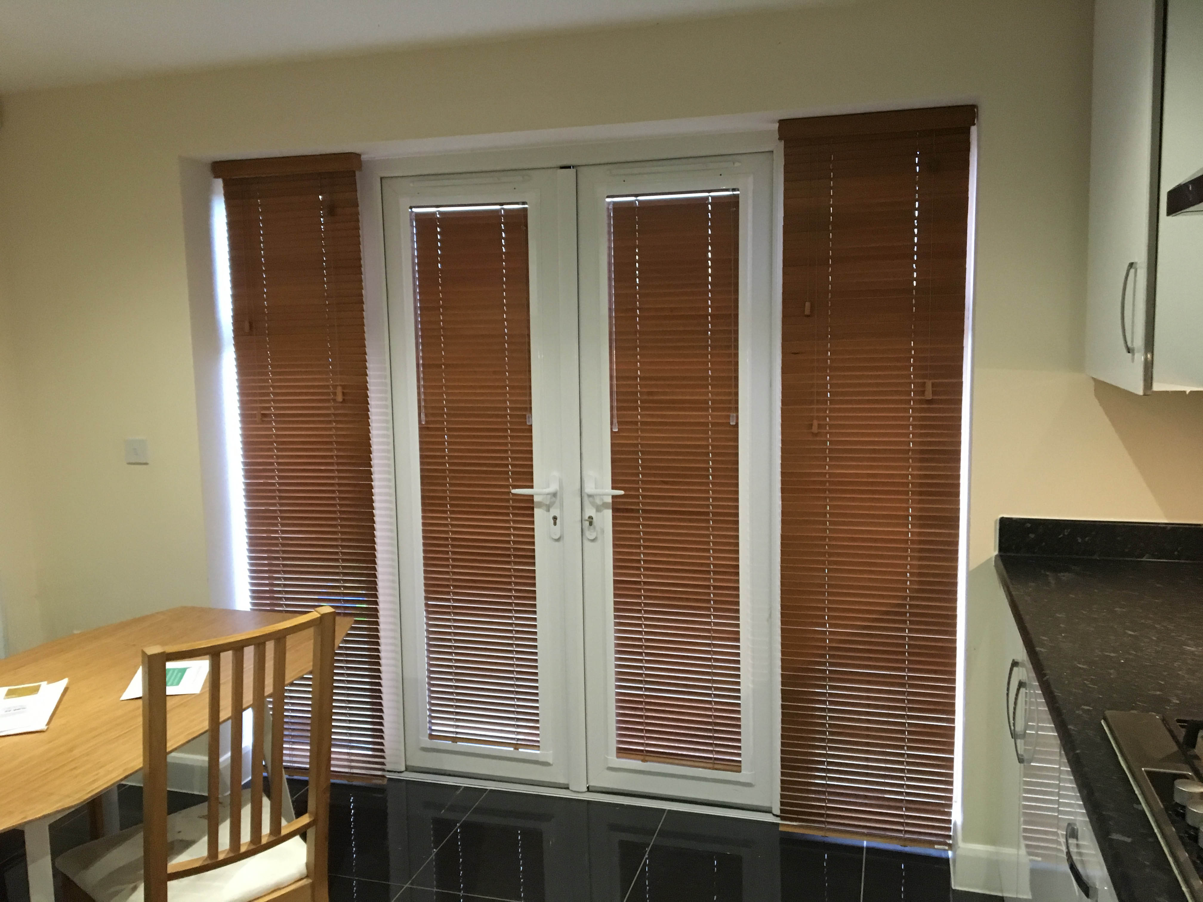 White wooden venetian blinds cool bathroom window treatments