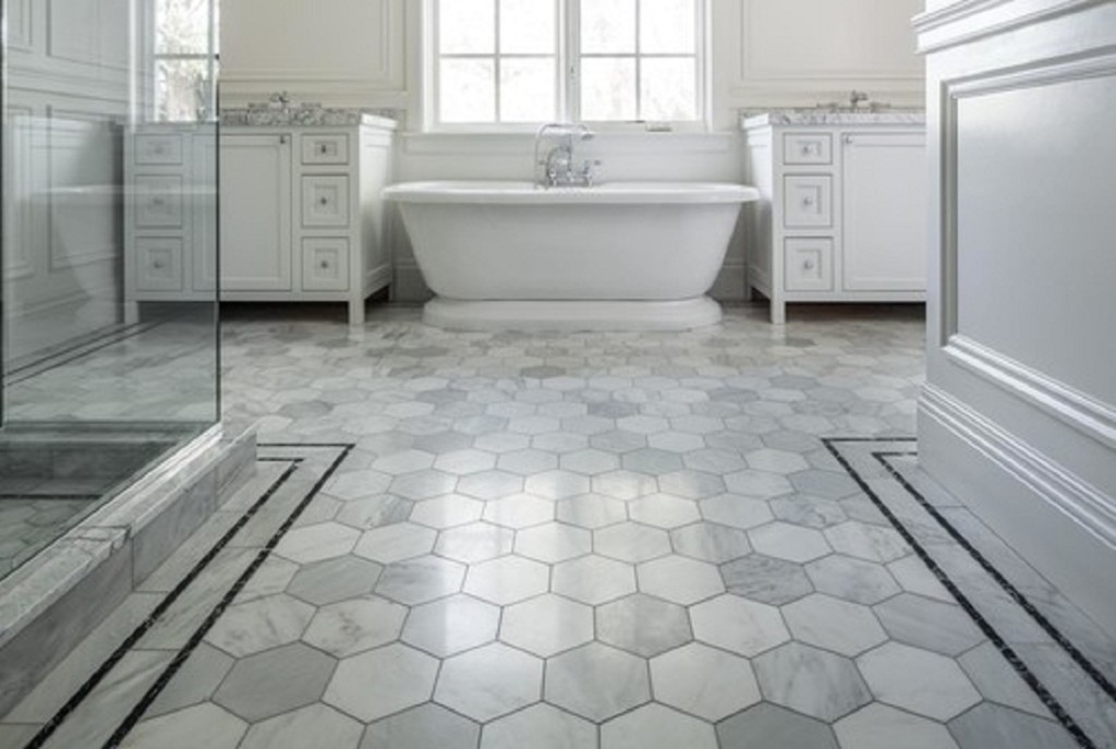 20 Super Stunning Bathroom Floor Tiles Ideas - HGNV.COM