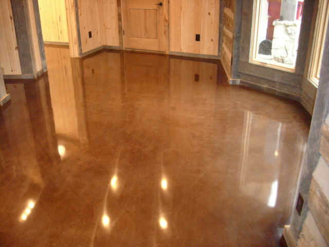 Stained Concrete Floors In Homes : Stained concrete floors for different home flooring ideas