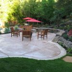 Cool stamped concrete patio designs ideas for garden landscaping for backyard gardening