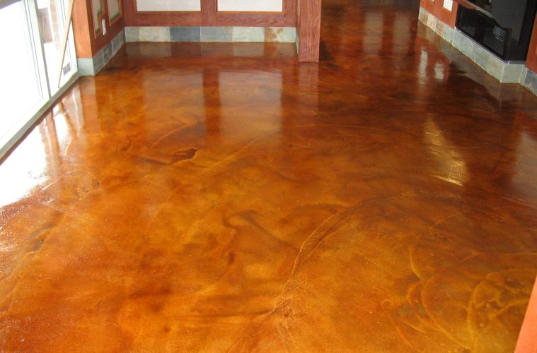 How to restain concrete floors home fatare for How to care for stained concrete floors